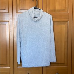 Super soft grey cowl neck shirt